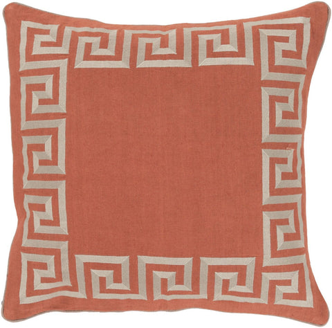 Key Throw Pillow Orange Neutral