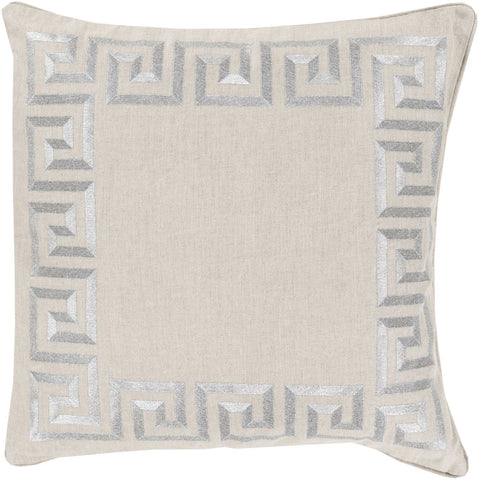 Key Throw Pillow Gray