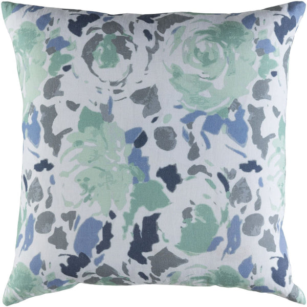 Kalena Throw Pillow Blue Green