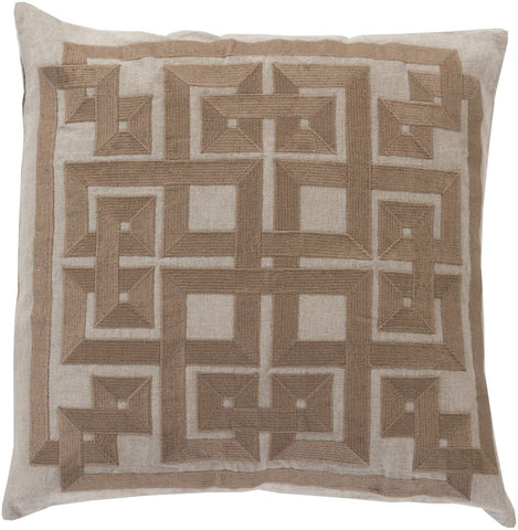 Gramercy Throw Pillow Gray Brown