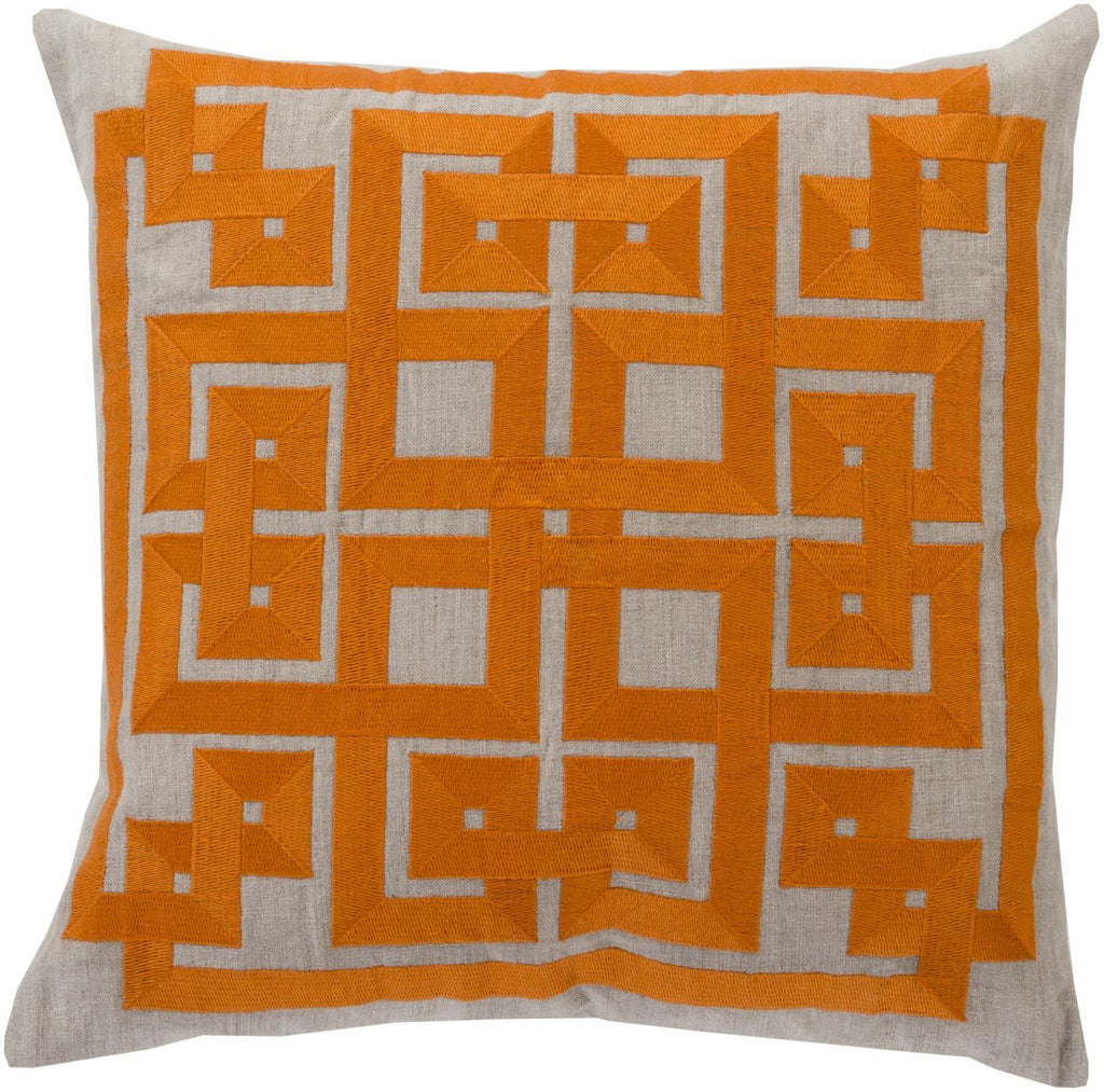 Gramercy Throw Pillow Orange Gray