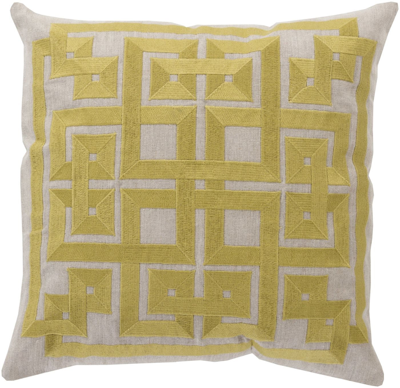 Throw Pillow Warehouse : Surya Gramercy Throw Pillow Green, Gray LD005-1818D. Only $73.80 at Contemporary Furniture ...