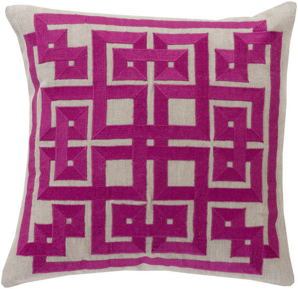 Gramercy Throw Pillow Purple Gray