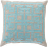 Gramercy Throw Pillow Blue Gray