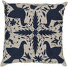 Otomi Throw Pillow Blue Gray