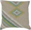 Kilim Throw Pillow Neutral Green