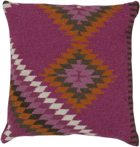 Kilim Throw Pillow Pink Green