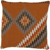 Kilim Throw Pillow Orange Brown