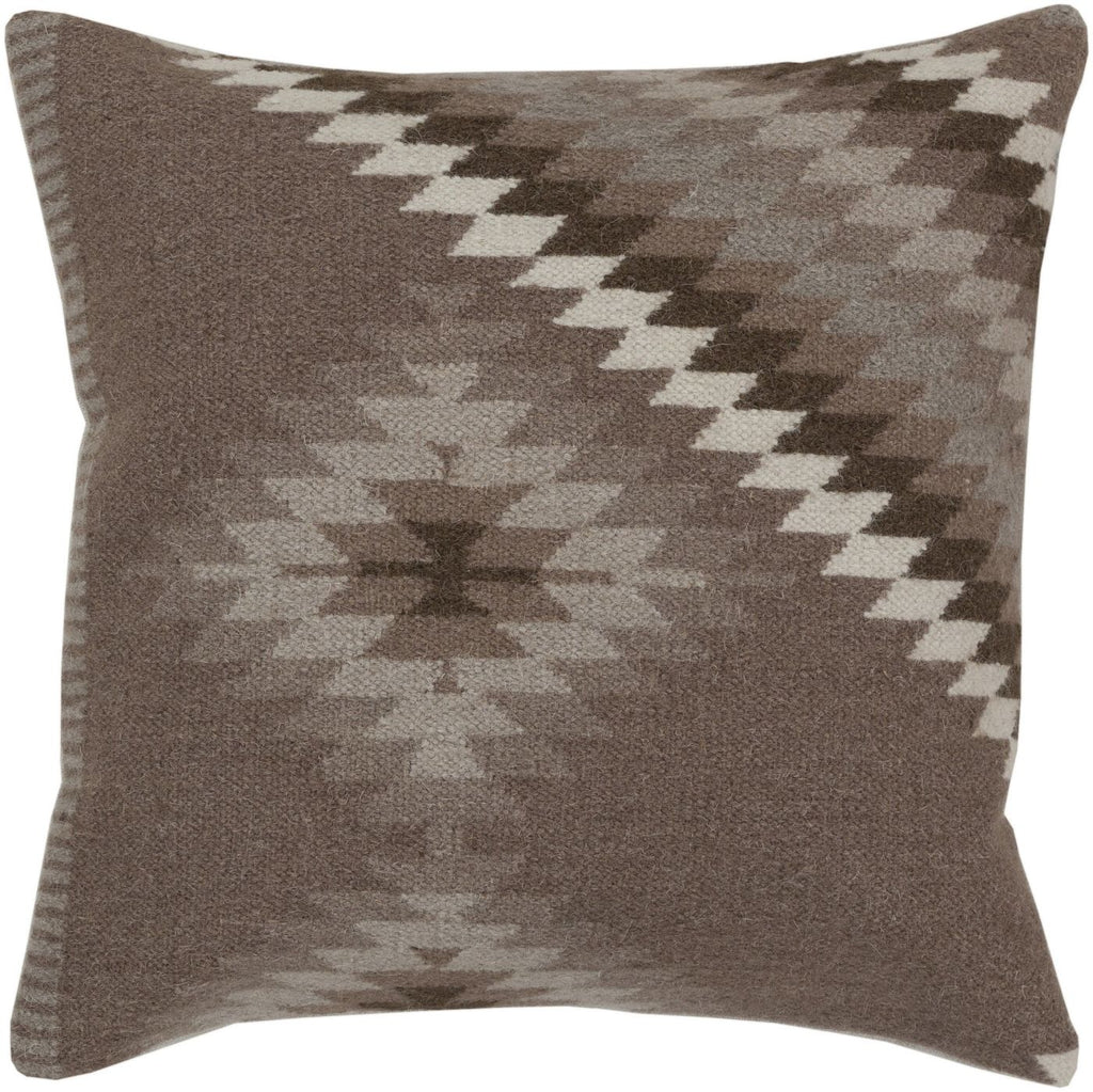 Kilim Throw Pillow Brown Gray