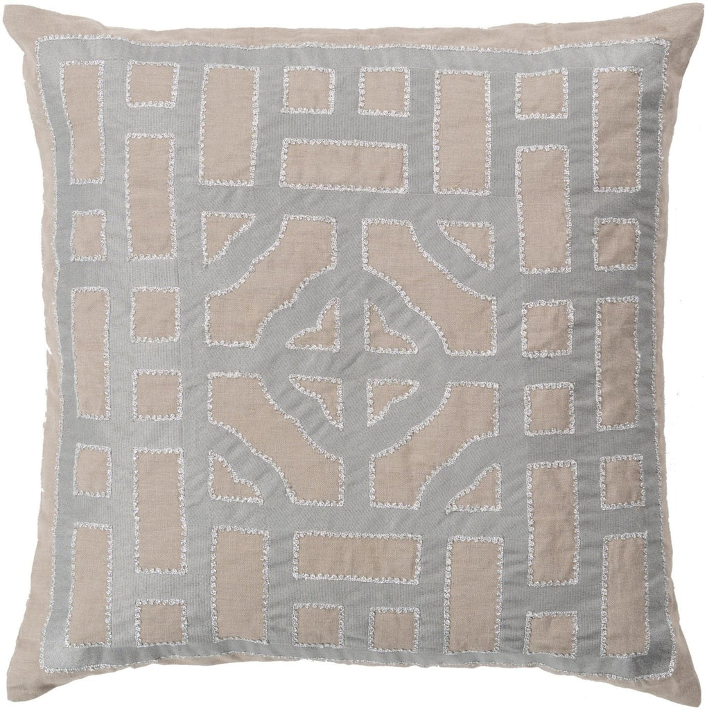 Chinese Gate Throw Pillow Brown Metallic