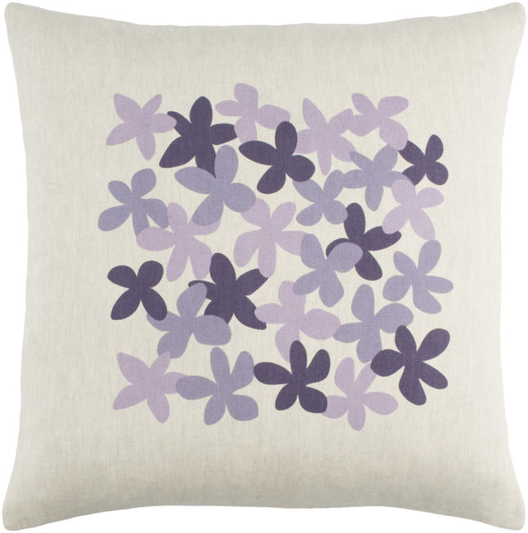 Little Flower Throw Pillow Purple