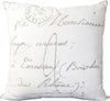 Montpellier Throw Pillow Neutral Gray