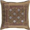 Litavka Throw Pillow Brown Red