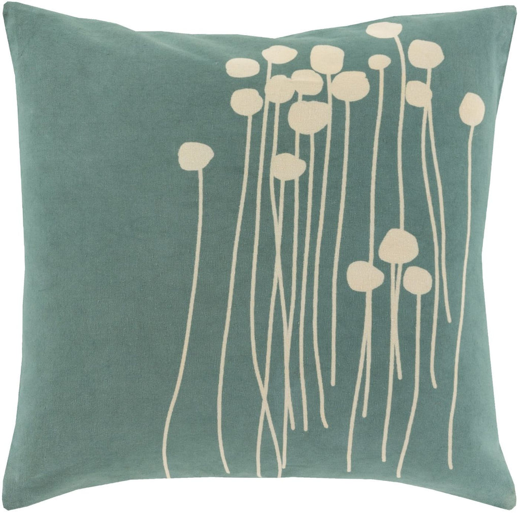 Abo Throw Pillow Blue Neutral