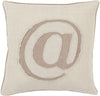 Linen Text Throw Pillow Neutral