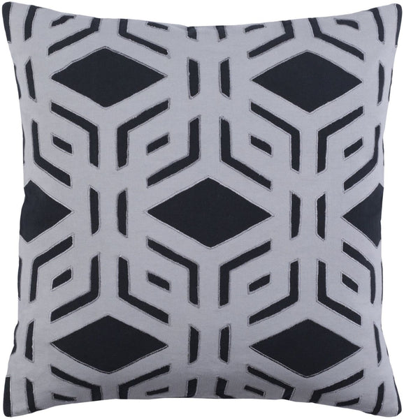 Millbrook Throw Pillow Black Gray