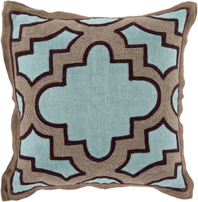 Maze Throw Pillow Blue Brown