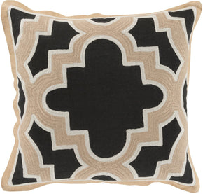 Maze Throw Pillow Black Neutral