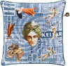 Mind Games Throw Pillow Blue