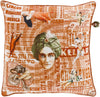 Mind Games Throw Pillow Orange Pink