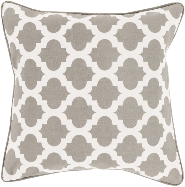 Moroccan Printed Lattice Throw Pillow Neutral