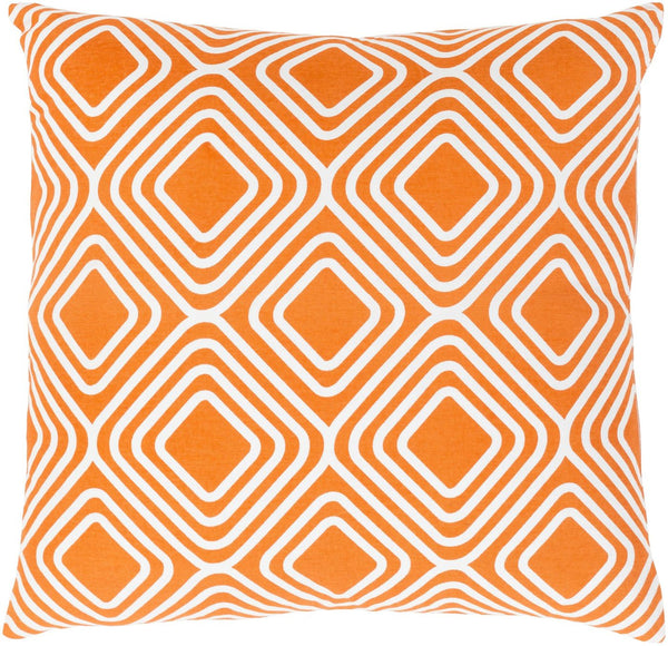 Miranda Throw Pillow Orange Neutral