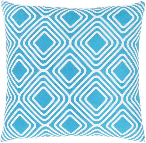 Miranda Throw Pillow Blue Neutral