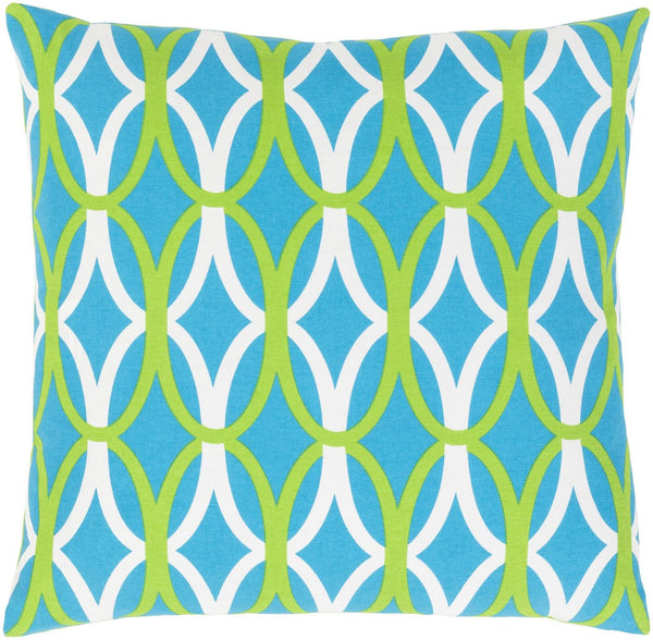 Miranda Throw Pillow Blue Green
