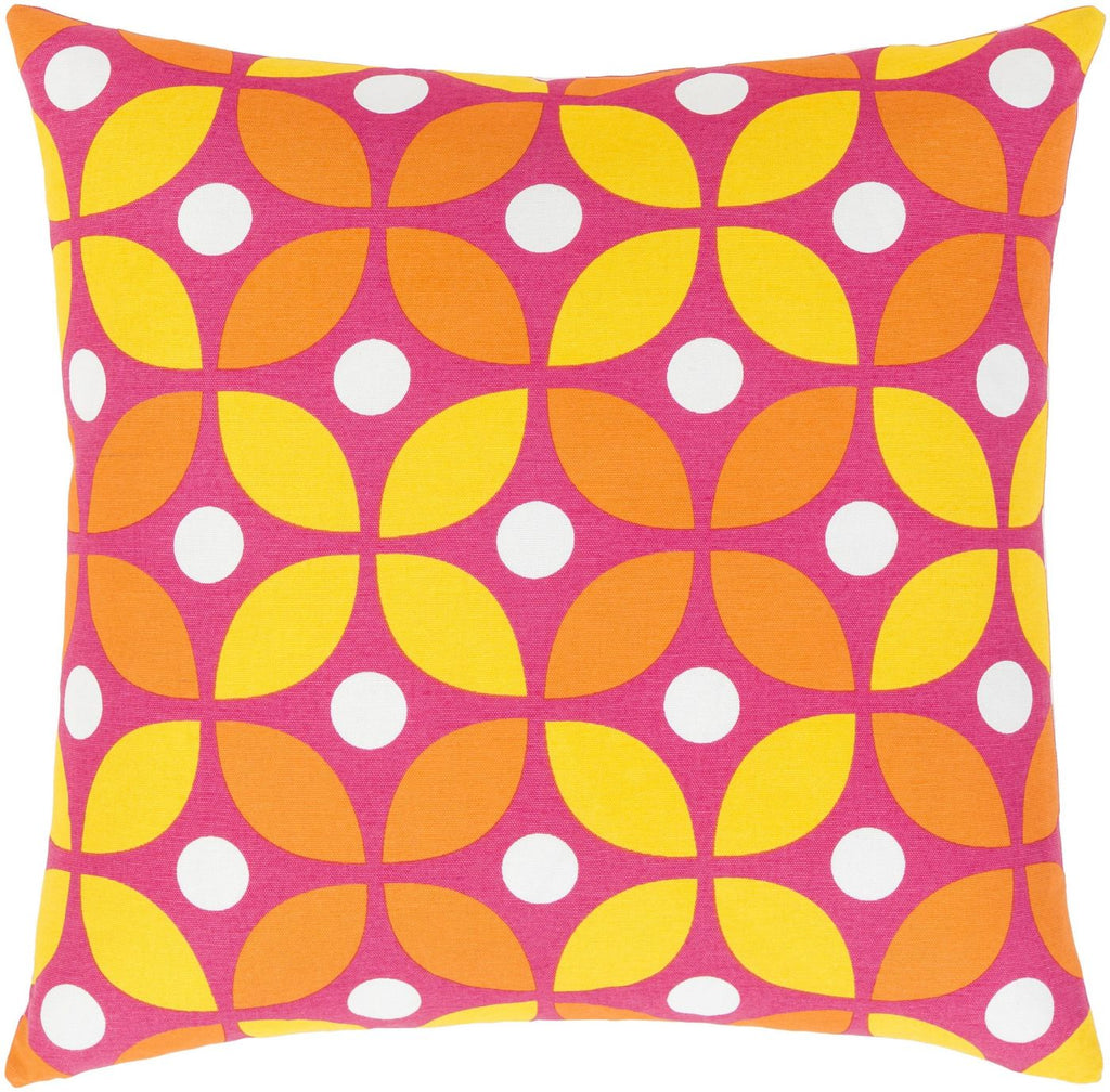 Miranda Throw Pillow Yellow Orange