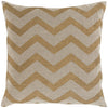 Metallic Stamped Throw Pillow Brown