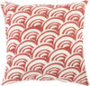Mizu Throw Pillow Red Neutral