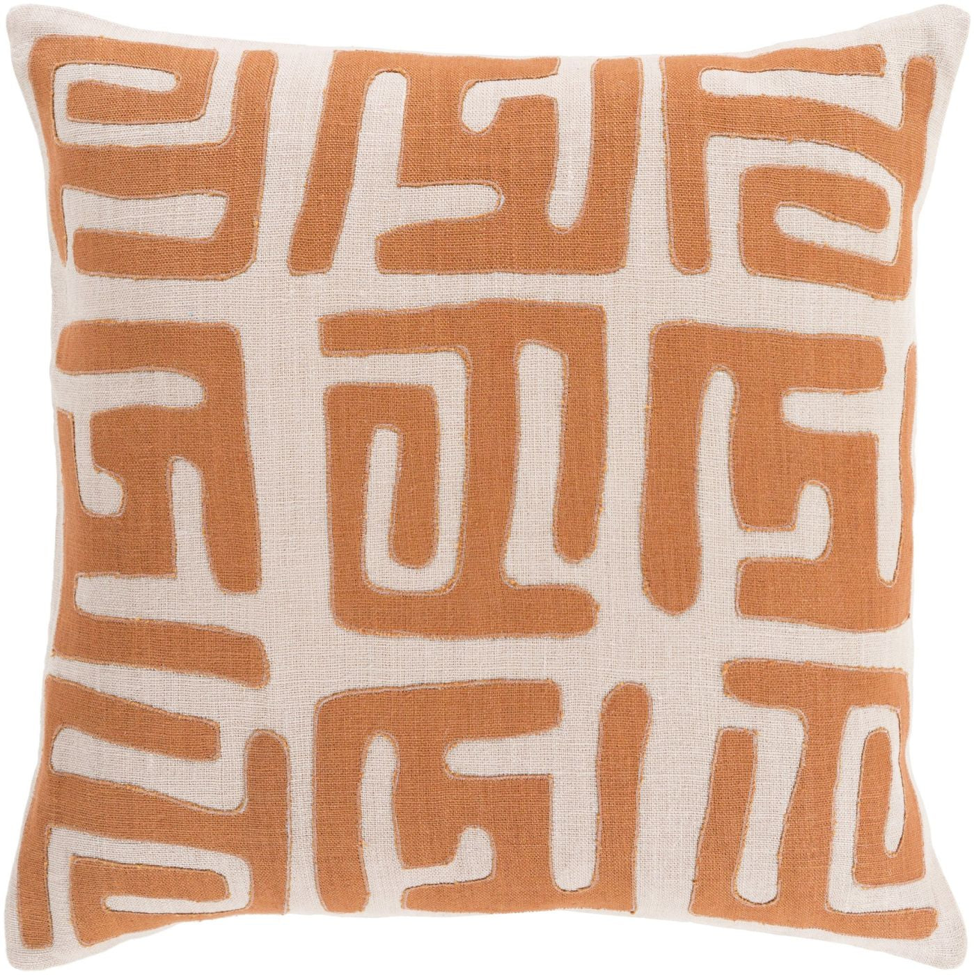Brown Orange Throw Pillow : Surya Nairobi Throw Pillow Orange, Brown NRB004-1319D. Only USD87.60 at Contemporary Furniture ...