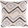 Nairobi Throw Pillow Gray Black