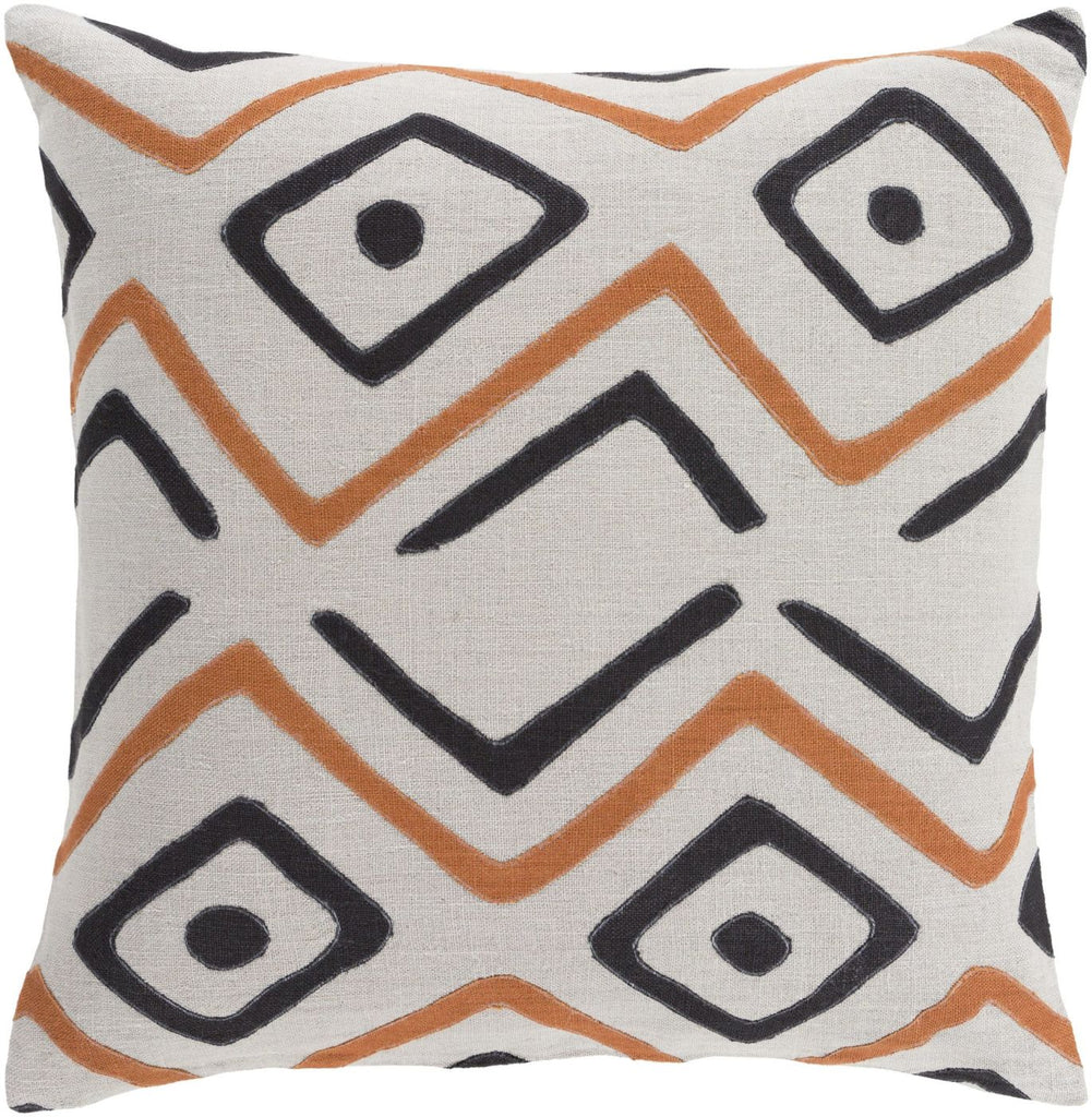 Nairobi Throw Pillow Gray Orange