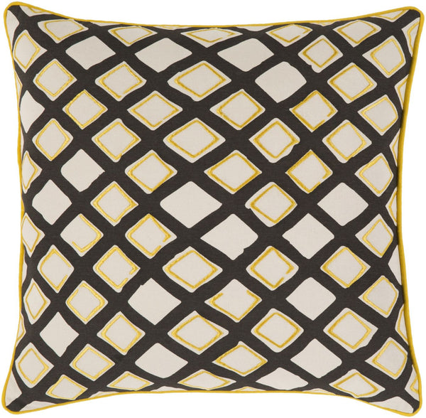 Omo Throw Pillow Yellow Neutral