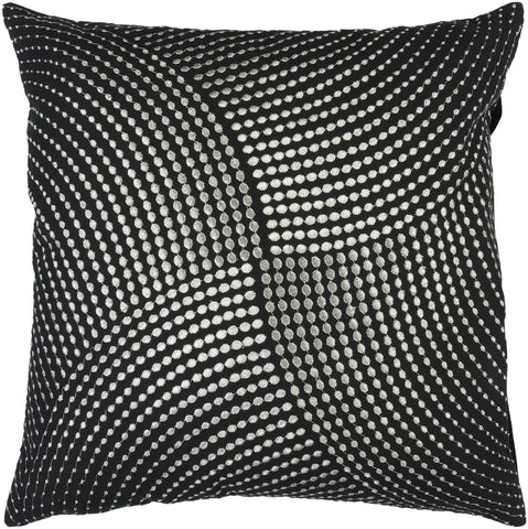 Throw Pillows - Surya P0223-1818D Midnight Throw Pillow Black, Metallic | 764262312287 | Only $50.00. Buy today at http://www.contemporaryfurniturewarehouse.com