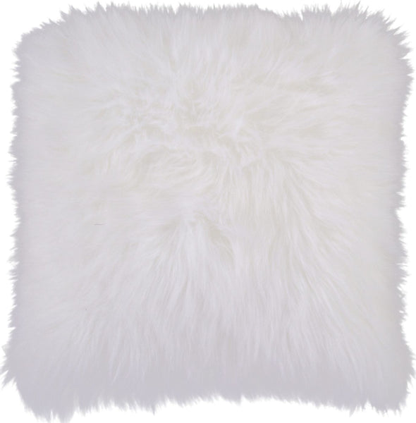 Heaven Throw Pillow Neutral Fur