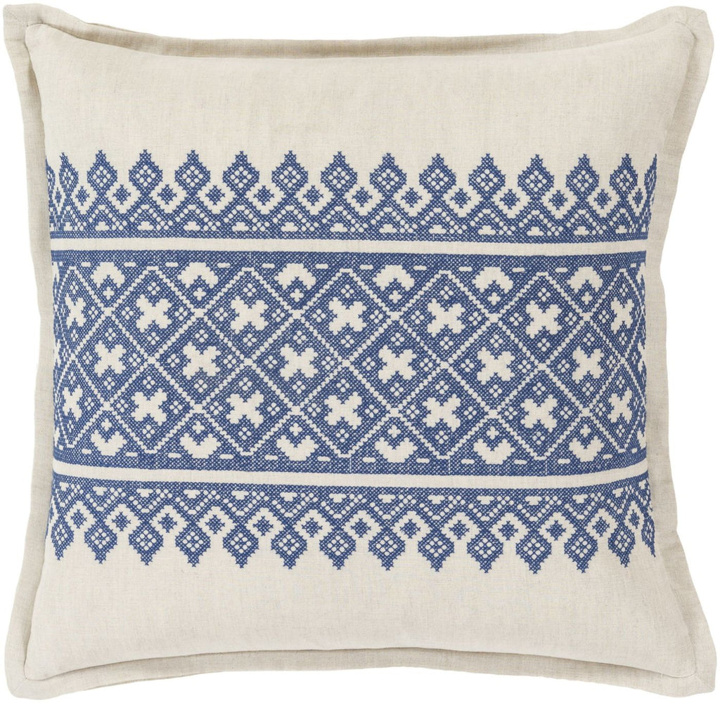 Throw Pillows - Surya PEN001-1818D Pentas Throw Pillow Blue, Neutral | 888473510222 | Only $81.60. Buy today at http://www.contemporaryfurniturewarehouse.com