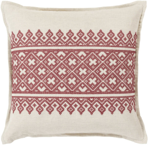 Pentas Throw Pillow Red Neutral