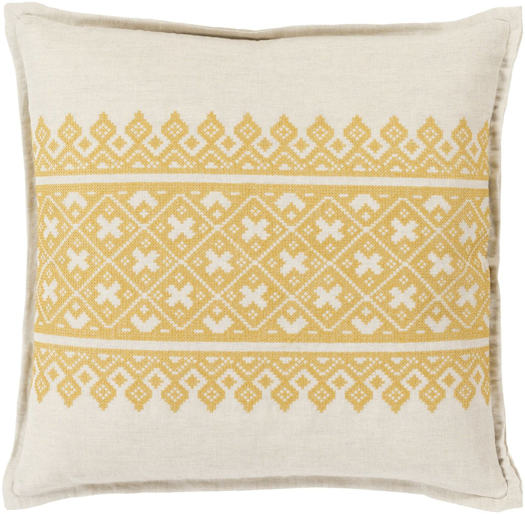 Pentas Throw Pillow Yellow Neutral