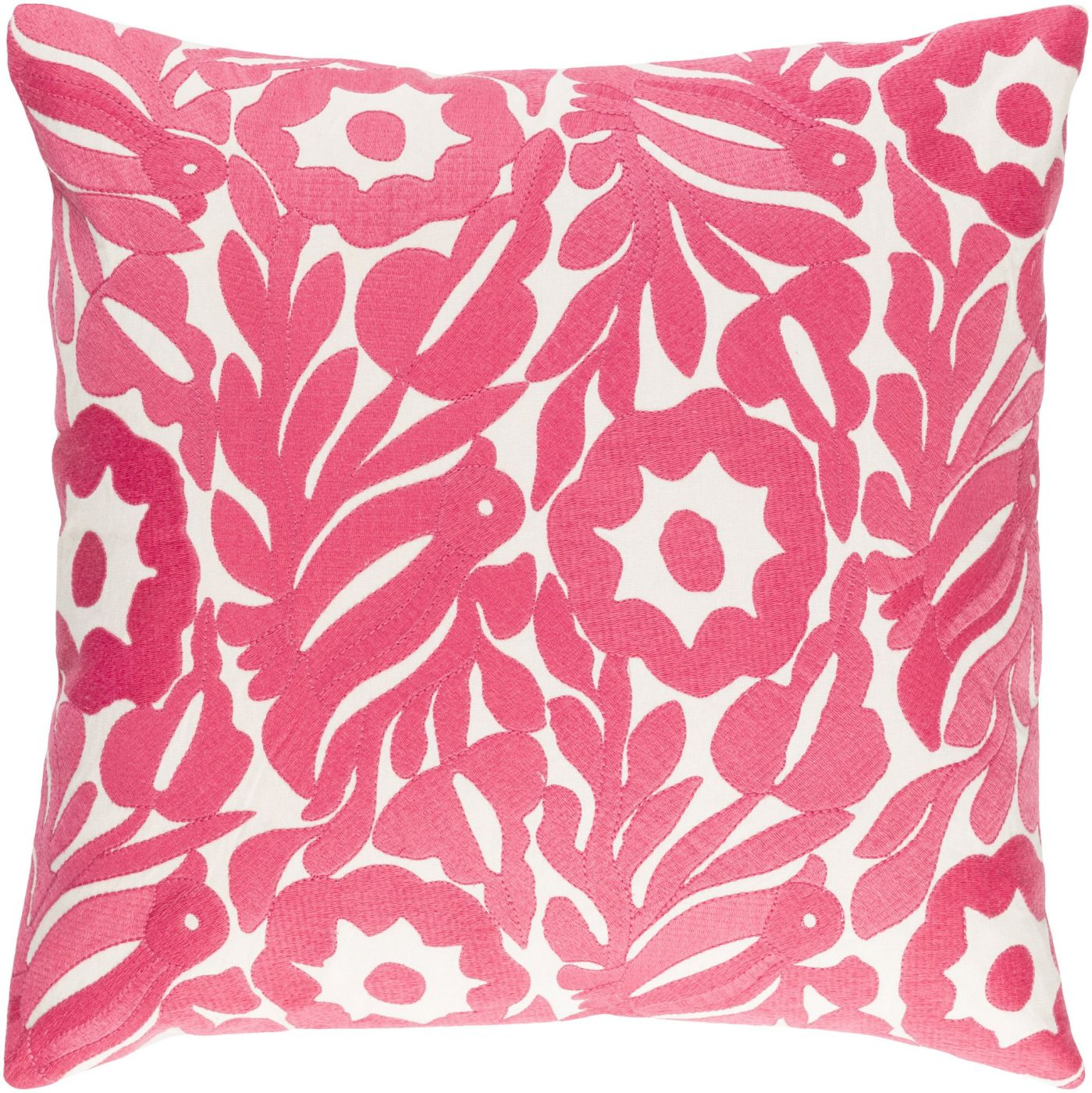 Surya Pallavi Throw Pillow Neutral, Pink PLV003-1818D. Only $72.00 at Contemporary Furniture ...