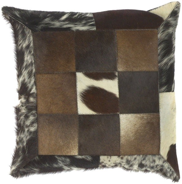 Trail Throw Pillow Neutral Black