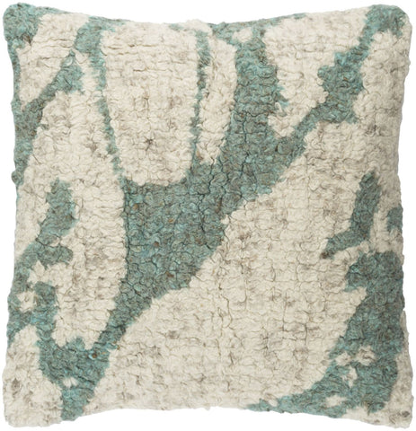 Primal Throw Pillow Neutral Green