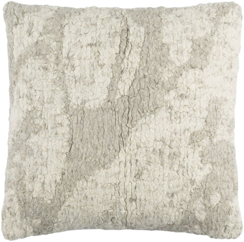 Primal Throw Pillow Neutral Gray