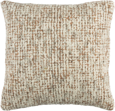 Primal Throw Pillow Neutral Orange