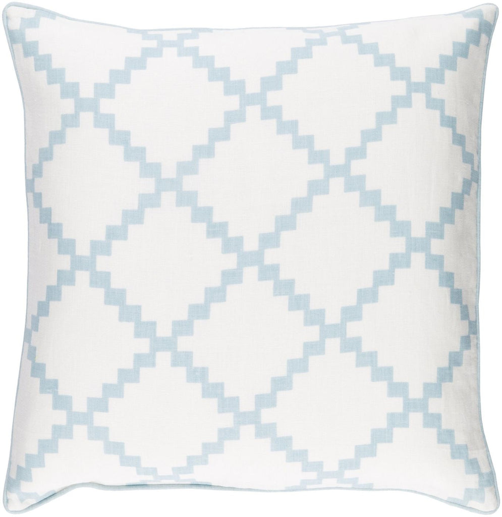 Parsons Throw Pillow Neutral Blue