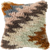 Mammoth Throw Pillow Blue Orange