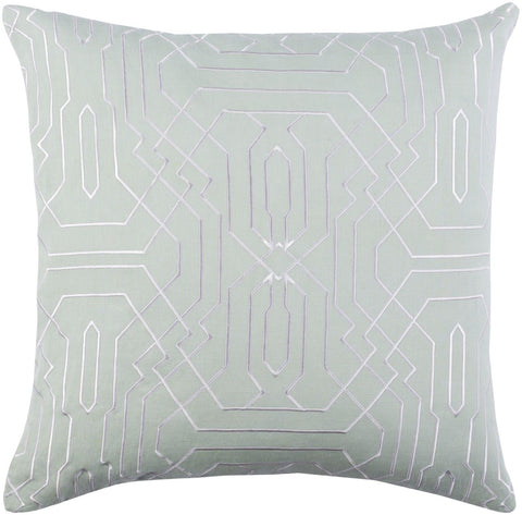 Ridgewood Throw Pillow Green White