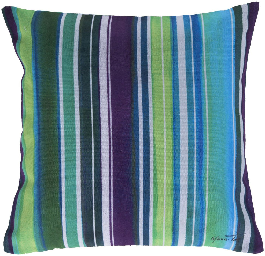 Rain Throw Pillow Blue