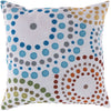 Rain Throw Pillow Blue Green